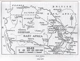 Map Of Eastern Africa by 2nd Loyals In East Africa 1914 17 Lancashire Infantry Museum