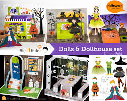 halloween toy halloween crafts paper craft dollhouse set