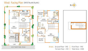Appealing Vastu House Plans For West Facing Road Contemporary House Plans With Vastu