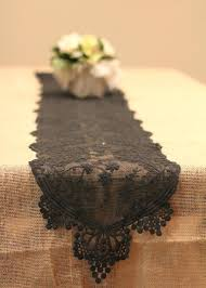 Burlap Lace Table Runner Lace Table Runner Cyberclara Com