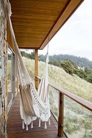 modern hammocks and balcony beach style with glass railing
