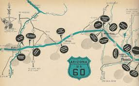 Map Phoenix Area by History Adventuring Driving From Phoenix To Los Angeles Via