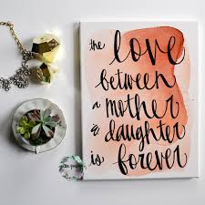 mother s day watercolor art mother s day quote wall art painting