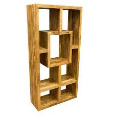 wood display ambala cube light mango wood display unit bookcase solid