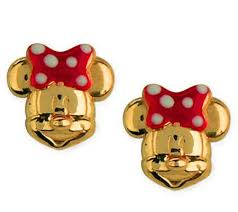 minnie mouse earrings disney choice of mickey or minnie mouse stud earrings 14k gold