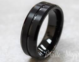 Mens Tungsten Wedding Rings by Tungsten Ring Etsy