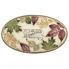 amazon com blessings oval serving tray by grasslands road