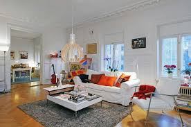 living rooms beautiful white scandinavian living room design with