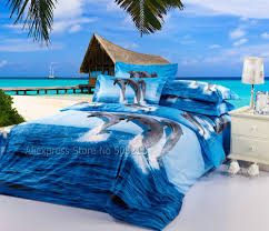 3d Bedroom Sets by Blue Purple And Brown Dolphins Print Holiday Ocean Sunset Scene