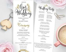 Wedding Ceremony Programs Diy Diy Newspaper Wedding Program Diy Program Wedding Program