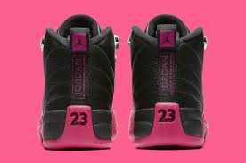 pink sparkly mercedes air jordan 12 xii black pink release date 510815 026 sole collector