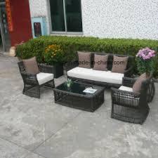Rattan Garden Furniture Sofa Set China Top Quality Cheap Synthetic Big Round Rattan Outdoor Garden
