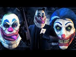 payday 2 new crimefest masks gumbo smiley evil clown masks