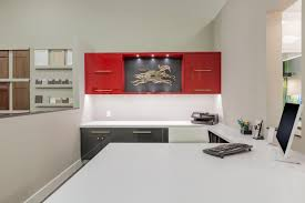 Red Kitchen Furniture Bathroom Cabinets Palm Springs Ca Design One Cabinetry