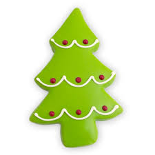 christmas holiday tree cookies decorated cutout cookies by
