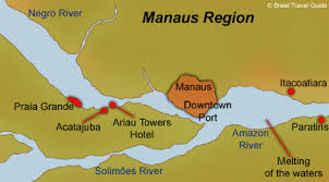 city map of brazil map of the basin manaus region and its spots