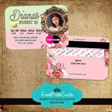 quinceanera invitations floral roses quinceanera invitations credit card invitaciones de