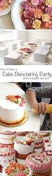 cake decorating party inspired