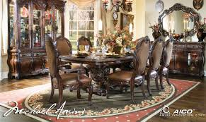 dining room sets with china cabinet aico 8pc essex manor rectangular dining room set with china cabinet