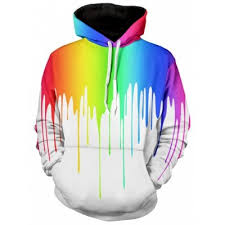 white multicolor paint dripping long sleeve hoodie 3xl 19 95