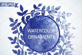 watercolor ornaments illustrations creative market