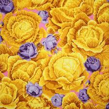 kaffe fassett cabbage patch yellow fabric emerald city fabrics