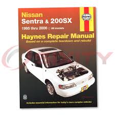 nissan sentra haynes repair manual se se r spec v xe base gxe gle