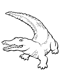 realistic crocodile coloring page free printable coloring pages