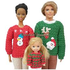 ravelry fashion doll family sweaters patterns