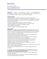 resume objectives for management positions sample resume for