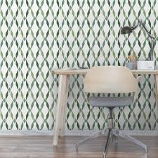 tropical trellis geometric avocado wallpaper by surface house