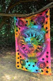 sun tapestry twin mandala throw tapestry indian tradintional