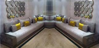 tissu pour canapé marocain architecture d un salon marocain salons marocains