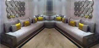 tissu canapé marocain architecture d un salon marocain salons marocains