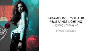 paramount loop rembrandt lighting