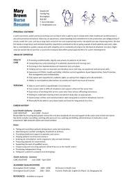 Resume Sle For A Nursing Student Sle Resume For Nurses Format 10 Best Nursing Resume Templates