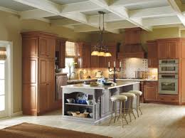 Cherry Vs Maple Kitchen Cabinets Mix And Match Your Cabinet Finishes For A Bold Look These Kemper