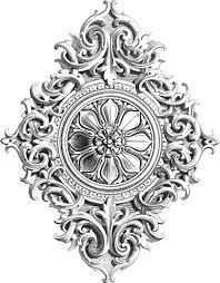 amazing antique rosette scrolls ornament the graphics