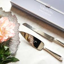 wedding cake knife set personalized vera wang infinity cake knife server set 2pc