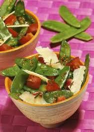 cuisiner des pois mange tout salade de pois gourmands au parmesan