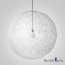 Sphere Ceiling Light Adorable Sphere Pendant Light Country Style Linen Wire Globe 1