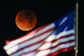 Picture Of Flag On Moon In Photos The Rare Super Blue Blood Moon Lunar Eclipse Of 2018