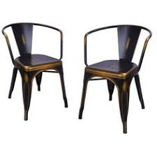 Copper Bistro Chair Adeco Blue Metal Chair Set Of Two Ch0221 3 Metals Bistro
