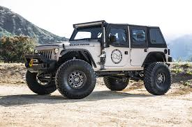 jeep white with black rims sprocket truck rims by black rhino