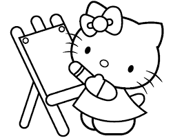 kitty painting beautiful coloring 525852 coloring