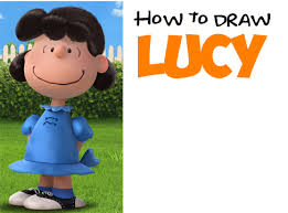 draw lucy peanuts movie step step tutorial