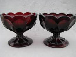Red Glass Vases And Bowls Colored Depression Glass And Retro Glassware
