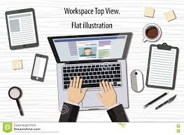 Designing A Desk by Professional Creative Graphic Designer Working At Office Desk He