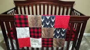 Plaid Crib Bedding And Navy Crib Bedding