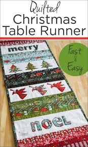 quilted christmas quilted christmas table runner the seasoned homemaker